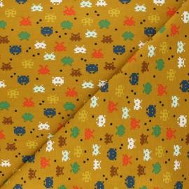 Poppy jersey fabric - mustard yellow Pixel game x 10cm
