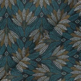 Tissu jacquard Vertigo - vert émeraude x 10cm