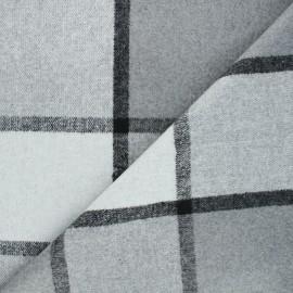 Tissu drap de laine Leman - gris clair x 10cm