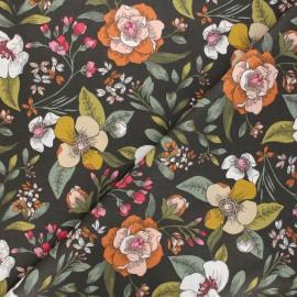 Tissu coton cretonne Candice - vert x 10cm