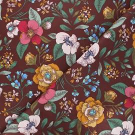 Tissu coton cretonne Candice - bordeaux x 10cm