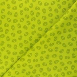 Tissu coton Andover Fabrics The Watcher - vert x 10cm