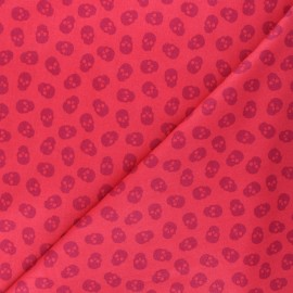 Tissu coton Andover Fabrics The Watcher - rouge x 10cm