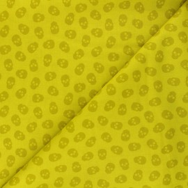 Andover Fabrics cotton fabric - lime green The Watcher x 10cm