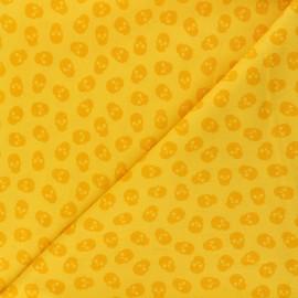 Tissu coton Andover Fabrics The Watcher - vert anis x 10cm
