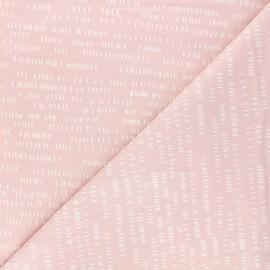 Tissu coton Andover Fabrics Dash - rose pâle x 10cm
