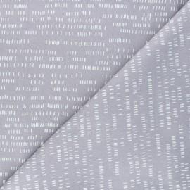 Tissu coton Andover Fabrics Dash - gris x 10cm