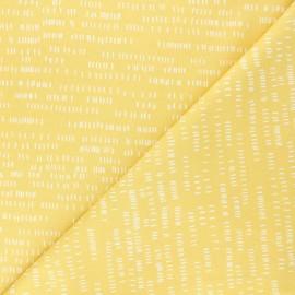Tissu coton Andover Fabrics Dash - jaune x 10cm