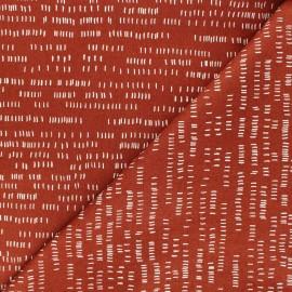 Tissu coton Andover Fabrics Dash - Terracotta x 10cm