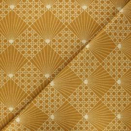 Tissu coton cretonne Cannage - ocre x 10cm