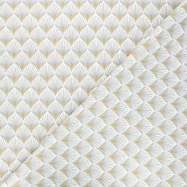 Tissu coton cretonne Baker - gris clair x 10cm