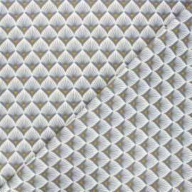 Tissu coton cretonne Baker - gris x 10cm