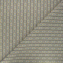 Tissu coton cretonne Finchley - bleu x 10cm