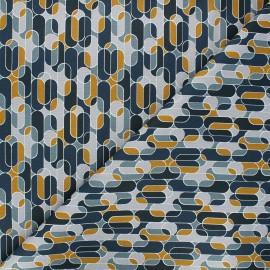 Tissu coton cretonne Chana - bleu x 10cm