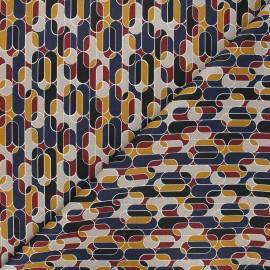 Tissu coton cretonne Chana - rouge x 10cm