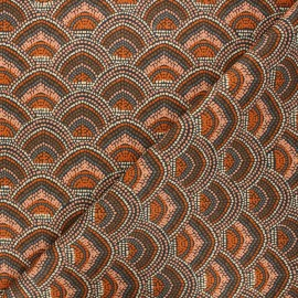 Tissu coton cretonne Menara - orange x 10cm