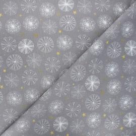 Cretonne cotton fabric - grey Étincelle x 10cm