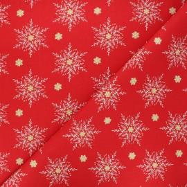 Tissu coton cretonne Alpina - rouge x 10cm