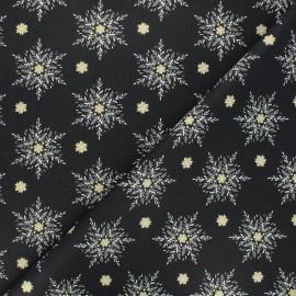 Tissu coton cretonne Alpina - noir x 10cm