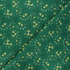Tissu coton cretonne Gui - vert x 10cm
