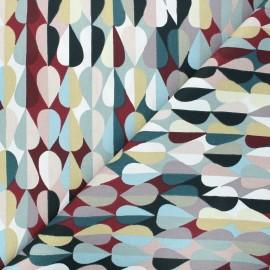 Tissu coton cretonne Disco - bordeaux x 10cm