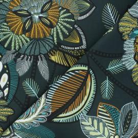Cretonne cotton fabric - petrol blue Calliandra x 10cm