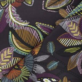 Tissu coton cretonne Calliandra - prune x 10cm