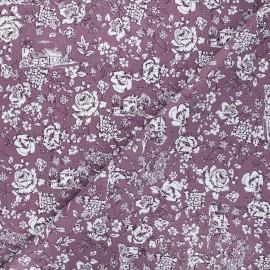 Tissu coton cretonne Nicole - violet x 10cm