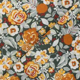 Tissu coton cretonne Colette - vert x 10cm
