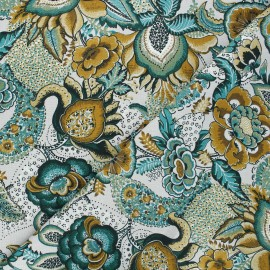 Tissu coton cretonne Carmen - gris x 10cm