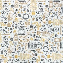 Tissu coton cretonne Gingerbread - ocre x 10cm