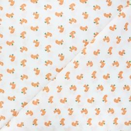 Cretonne cotton fabric - white Ticky x 10cm