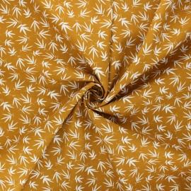 Poplin cotton fabric - mustard yellow Rikka x 10cm