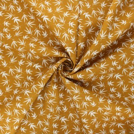 Tissu popeline de coton Rikka - ocre x 10cm