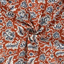 Tissu popeline de coton Romana - rouille x 10cm