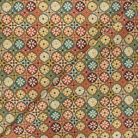 Tissu coton cretonne Wendy - terracotta x 10cm
