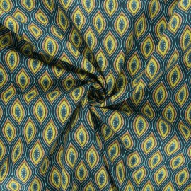 Tissu popeline de coton Jana - vert x 10cm