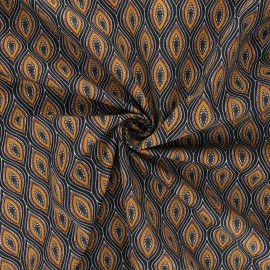 Poplin cotton fabric - camel Jana x 10cm