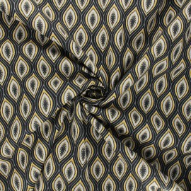 Tissu popeline de coton Jana - gris x 10cm