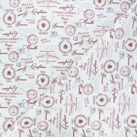 Cotton fabric - white Confiture de mamie x 10cm
