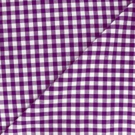 Tissu Vichy grands carreaux violet x 10cm