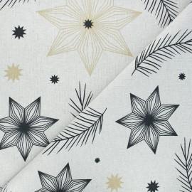 Linen aspect polycotton canvas fabric - natural Northstar x 10 cm