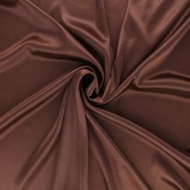 Tissu doublure jersey - marron x 10cm