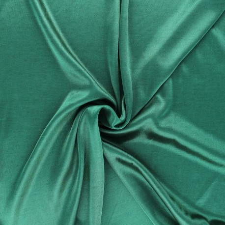 Lining jersey fabric - tree green x 10cm
