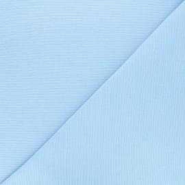 Tissu maille tubulaire/bord-côte ciel x 10cm