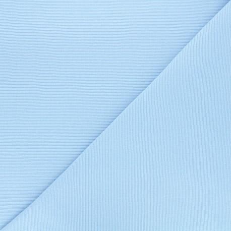 Knitted Jersey tubular edging fabric x 10 cm - light blue