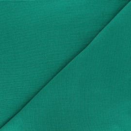 Tissu maille tubulaire/bord-côte vert gazon x 10cm