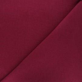 Tissu maille tubulaire/bord-côte grenat x 10cm