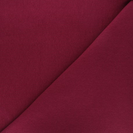 Knitted Jersey tubular edging fabric x 10 cm - dark red
