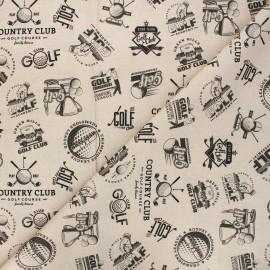 Tissu coton Golf - beige x 10cm